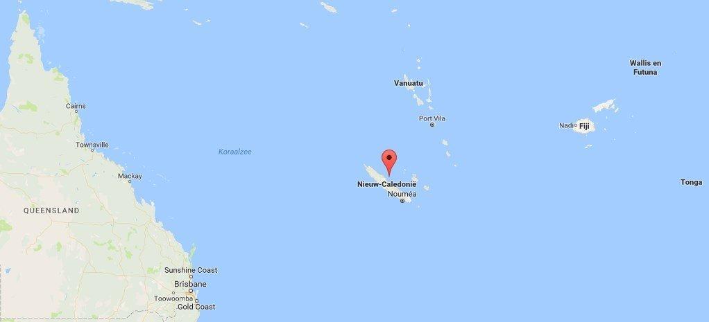 ligging nieuw caledonie google maps
